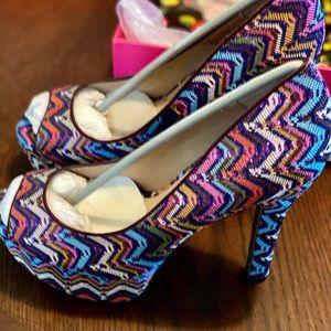 Betsey Johnson sparkle heels size 8 1/2